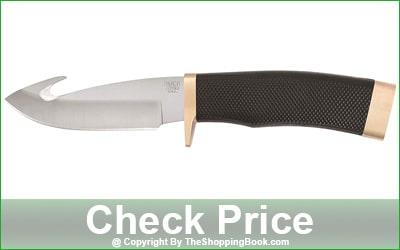 Buck Zipper Fixed Deer Skinning Knife With Gut Hook