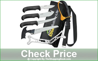 Outdoor Edge 8-Piece ButcherLite Hunting & Game Processing Knife Set